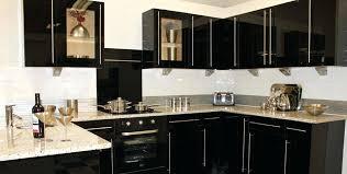 Black Gloss Kitchen Cabinets Black Gloss Cabinet Black Gloss And Glass Drinks Cabinet Black