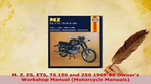 download m z es ets ts 150 and 250 196988 owners workshop manual