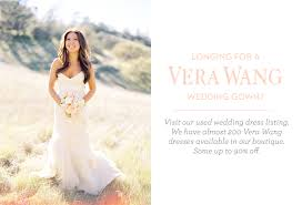 sale wedding dress used vera wang wedding dresses once wed
