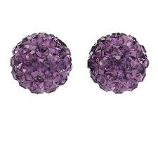 purple stud earrings evoke purple stud earrings h samuel the jeweller polyvore