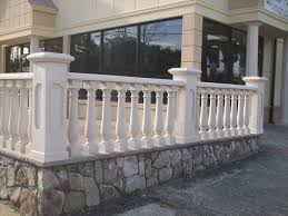 concrete balusters for store front view traditional exterior
