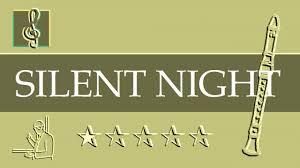 recorder notes tutorial christmas song silent night sheet