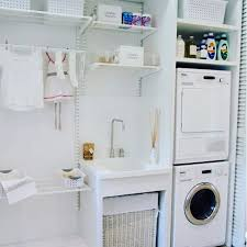 Space Saving Laundry Ideas White by