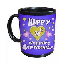 26th wedding anniversary 26th wedding anniversary gift printed coffee mug