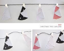 diy christmas tree paper garland tomfo