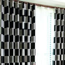 Black Check Curtains Black And White Checkered Curtains Uk Gopelling Net