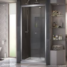 Frameless Bifold Shower Door Dreamline Butterfly 34 To 35 1 2 In Frameless Bi Fold Shower Door
