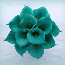 teal flowers brown and teal flowers for wedding boquets the wedding