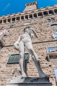 copy of michelangelo u0027s david statue standing in its original