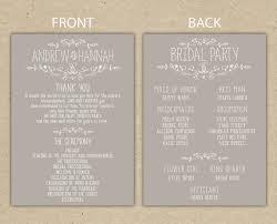 wedding program fans wording wedding program wedding reception wedding thank you printable