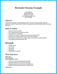 Job Resume Examples For No Experience by Impressive Bartender Resume Sample That Brings You To A Bartender Job