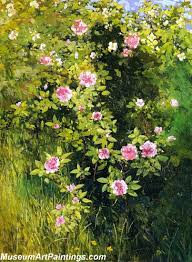 flower garden paintings rose rambler