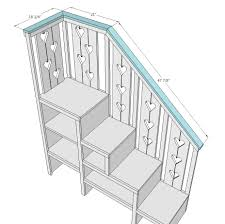 Stairs Standard Size by Bunk Bed With Stairs Plans Free Ana White Build A Sweet Pea