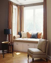 Side Window Curtain Rods Bay Window Curtain Rods Living Room Contemporary With Accent Table