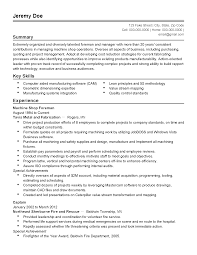 Manufacturing Experience Resume Foreman Resume Resume For Your Job Application