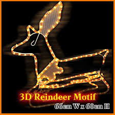 Cheap Outdoor Christmas Decorations Australia by Christmas Reindeer Lights Led Outdoor Fairy Rope Lights Christmas