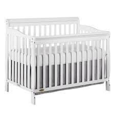 Convertible White Crib On Me Ashton 5 In 1 Convertible Crib White Walmart