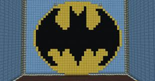 batman symbol mrbumtart minecraft project