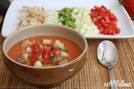 recette cuisine gaspacho espagnol recette de gaspacho andalou soupe froide espagnole