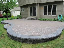 How To Paver Patio Innovative Patio Ideas With Pavers Here39s A Raised Curved Paver