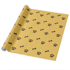 paw print tissue paper wrapping paper zazzle co nz