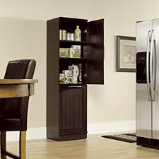 Kitchen Cabinet Trash Can Amazon Com Narrow Storage Cabinet W Recycle Bin Trash Can