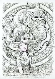 483 mermaid coloring sheets images mermaid