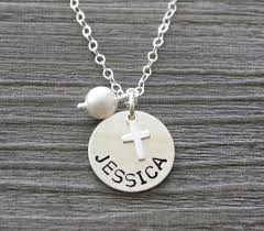 baby name necklaces personalized name cross necklace baby dedication gift girl