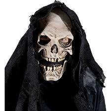 Death Costumes Halloween Amazon Zagone Grim Reaper Mask Skull Skeleton Death Clothing