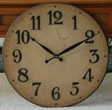 furniture antique rustic oversized wall clock in tuscan