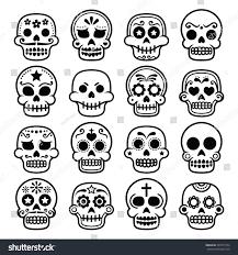 halloween icons free halloween mexican sugar skull dia de stock vector 295071554