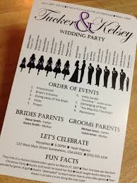 winter wedding programs wedding order of event wedding ideas