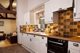 Small Country House Decorations Cottage Kitchen Of Country House With White Wood
