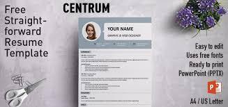 Powerpoint Resume Template Centrum Simple Powerpoint Resume Template