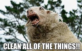 Clean All The Things Meme - clean all of the things meth sheep quickmeme