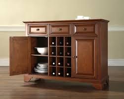 Kitchen Servers Furniture Crosley Lafayette Buffet Server Sideboard Cabinet With Wine