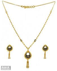 gold small necklace designs images 22k designer necklace set ajns53948 22k gold necklace and jpg