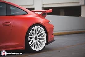 porsche gt3 red matte red porsche 991 gt3 on hre p200 wheels 5 my car portal