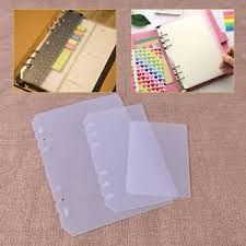 scrapbook page protectors 4pc a5 a6 a7 notebook scrapbook page protector binder filler cover