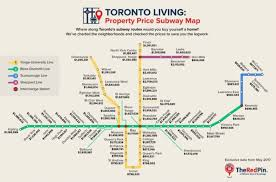 Map Price New Map Tracks Toronto Home Prices By Subway Station
