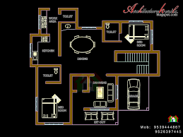 architecture kerala four bed room house plan