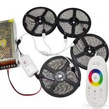 5050 led light strip dc 12v rgb kit 15m 20m 5050 led strips lights waterproof 2 4g rf