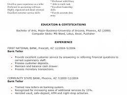 Resume For Teller Neoteric Teller Resume 16 Bank Teller Resume Objective Resume