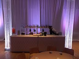 drape rental lounge furniture rental white leather tufted bar with pipe and
