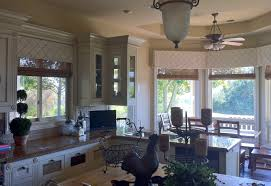 Elegant Window Treatments by Wood Shade W Fabric Valance Wood Shades And Topped With Box