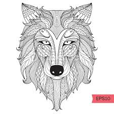 wolf coloring vector art thinkstock