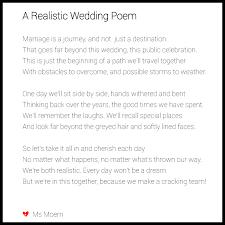 wedding poems a realistic wedding poem ms moem poems etc