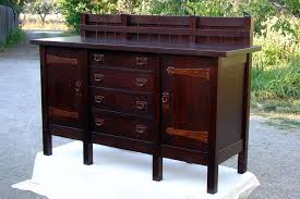 Buffet Cabinets And Sideboards Voorhees Craftsman Mission Oak Furniture Gustav Stickley Replica