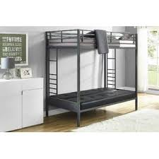 Black Futon Bunk Bed Dorel Jasper Gunmetal Premium Futon Bunk Bed With Black
