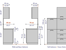 Standard Height Of Kitchen Cabinets Brilliant Standard Kitchen - Height of kitchen base cabinets